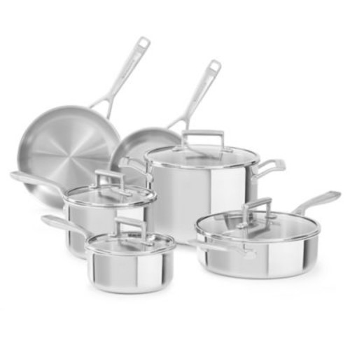 Kitchenaid Tri-Ply Stainless Steel 10-Piece Cookware Set
