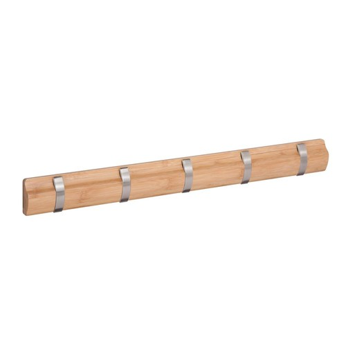 Honey-Can-Do 22.25 in. L x 2.28 in. H Bamboo 5-Hook Wall Hanger