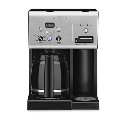 Cuisinart 12-Cup Programmable Coffeemaker with Hot Water System, Black Stainless