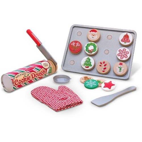 Melissa & Doug Slice and Bake Wooden Christmas Cookie Play Food Set