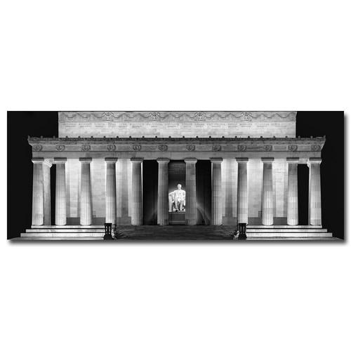 Trademark Global Gregory O'Hanlon 'Lincoln Memorial- Night' Canvas Art [Overall Dimensions : 10x24]
