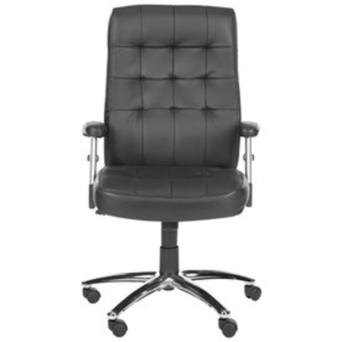 Safavieh Fox Black Bicast Leather Task Office Chair