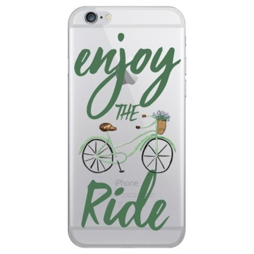iPhone 6/6S/7/8 Case Hybrid Enjoy the Ride Clear - OTM Essentials