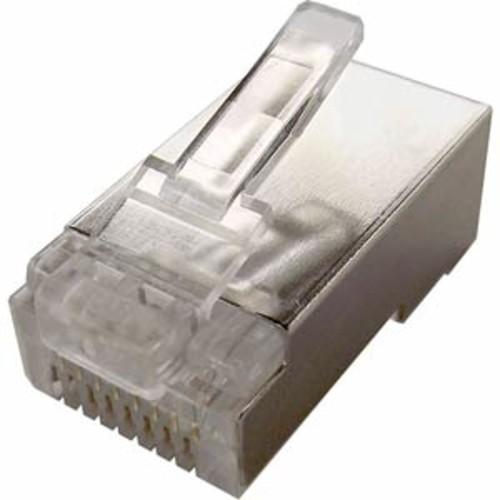 Shaxon RJ45 Modular Plugs for Cat5e Solid Shielded Cable - 100 Pack