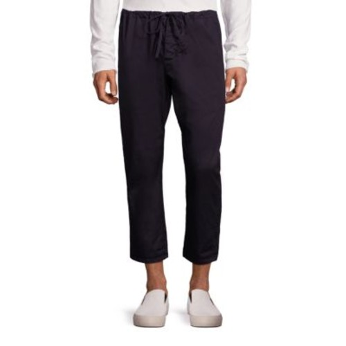 Drop-Rise Cropped Drawstring Pants