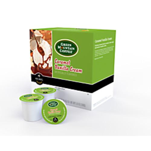 Green Mountain Coffee Caramel Vanilla Cream K-Cup Pods, 4 Oz, Box Of 18