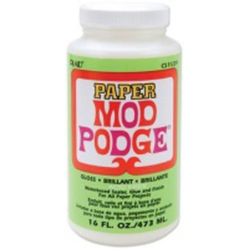 Mod Podge Waterbase Sealer, Glue and Finish for Paper (16-Ounce), CS11239 Gloss Finish