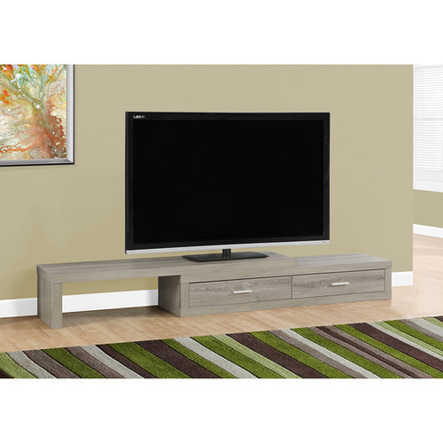 Expandable Dark 60-inch to 90-inch Taupe TV Stand
