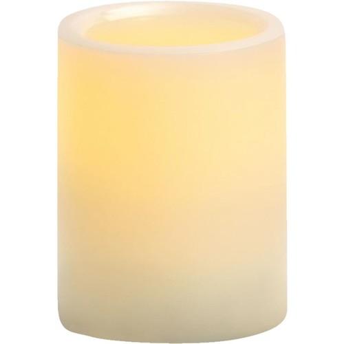Inglow Cream Wax Pillar LED Flameless Candle - CGT54400CR01