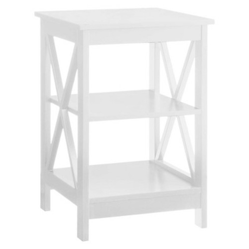 Oxford End Table White - White - Convenience Concepts