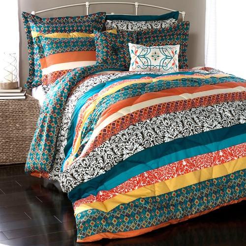 Lush Decor Boho Stripe 7-pc. Reversible Comforter Set