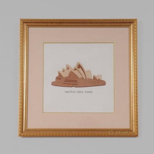 Modern Handicrafts Sydney Australia Opera House by Billy Jacobs Framed Graphic Art