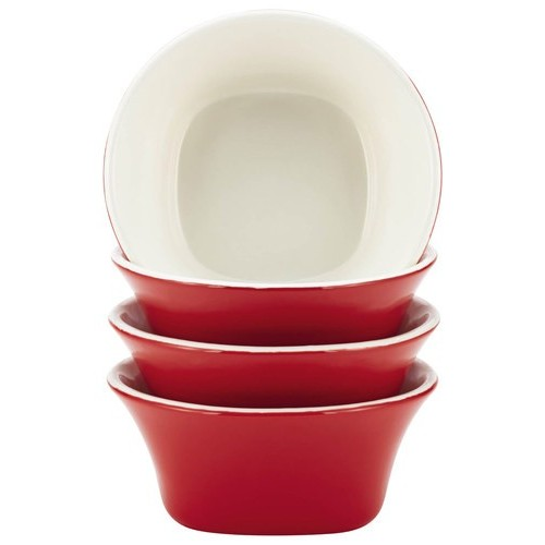 Rachael Ray - Round & Square Collection 4-Piece Fruit Bowl Set - Red