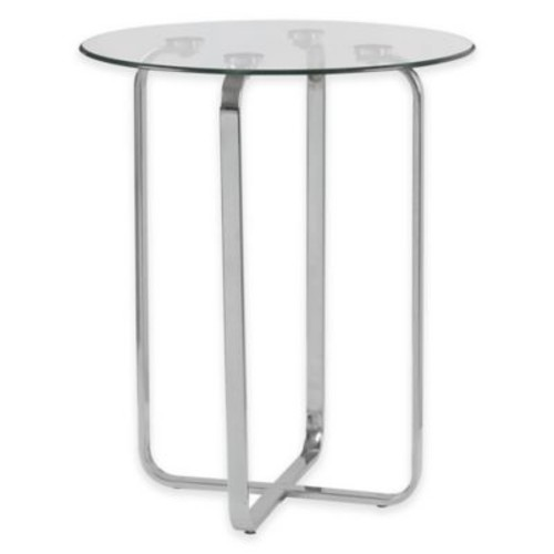 Kenroy Home Arpeggio Accent Table in Stainless Steel