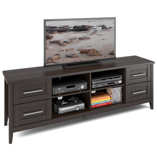 CorLiving Jackson Extra Wide TV Bench in Espresso Finish, for TVs up to 80