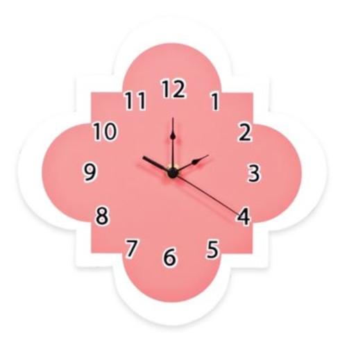 Trend Lab Cocoa Coral Quatrefoil Wall Clock