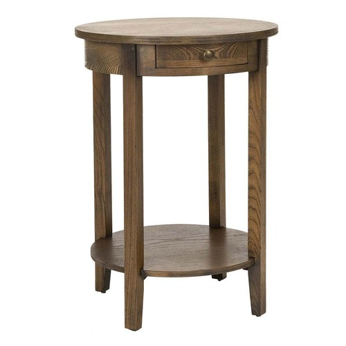 Safavieh Hannah Medium Oak Storage End Table