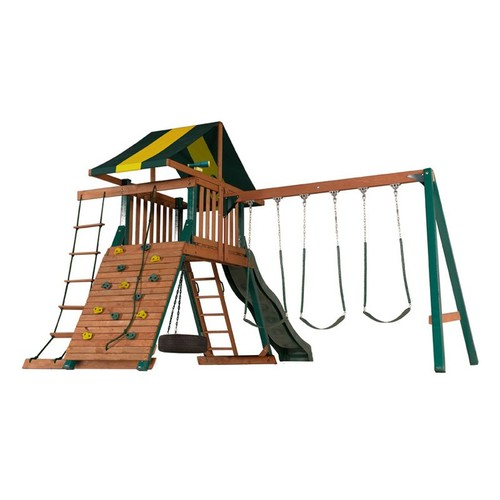 Wood Turtle Cove Swing Set