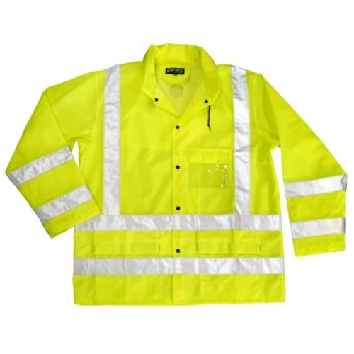 Dutch Harbor Men's Maxflect Safety Rain Jacket