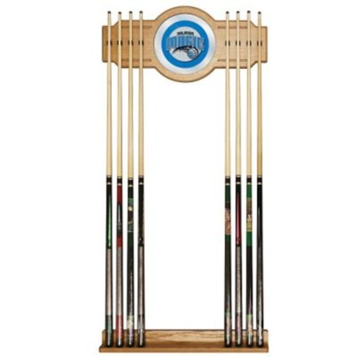 Trademark Global Wood and Glass Billiard Cue Rack With Mirror, Orlando Magic NBA