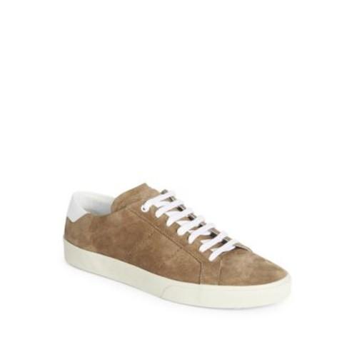 SAINT LAURENT Suede Low-Top Sneakers