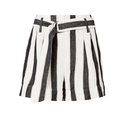 FRAME Linen Classic Stripe Shorts