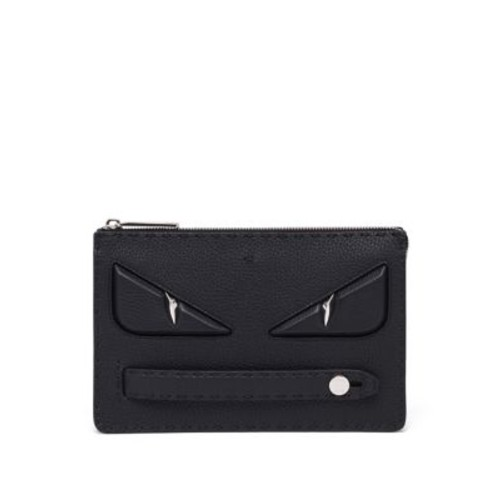 FENDI Calf Leather Monster Pouch