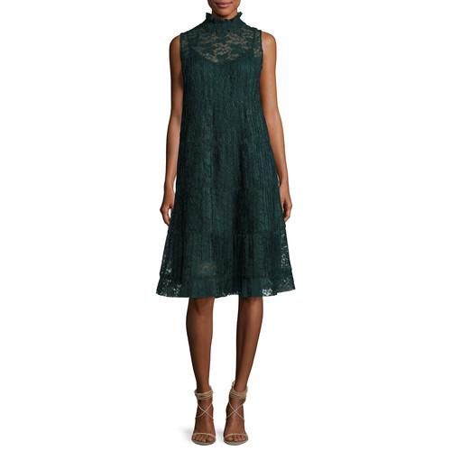 SEE BY CHLOE Sleeveless Chiffon Midi Dress, Green