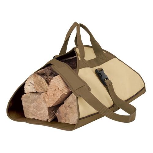 Classic Accessories Veranda Woven Polyester Fabric Log Carrier; Pebble/Bark/Earth