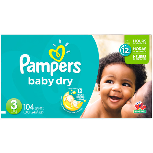 Pampers Baby Dry Size 3 Diapers Super Pack - 104 Count