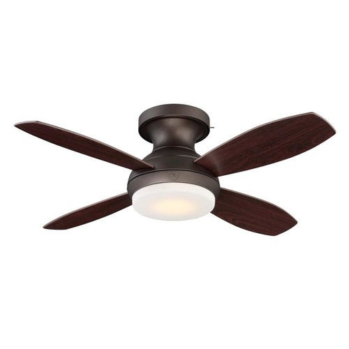 GE Kinsey 44 in. LED Indoor Bronze Ceiling Fan with SkyPlug Technology