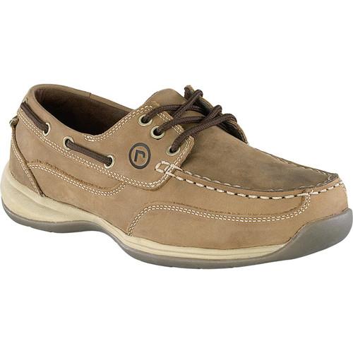 Rockport 3-Eye Steel Toe Boat Shoe  Brown, Size 11 Wide, Model# RK6736