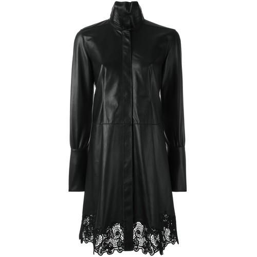LANVIN Lace Hem Shirt Dress