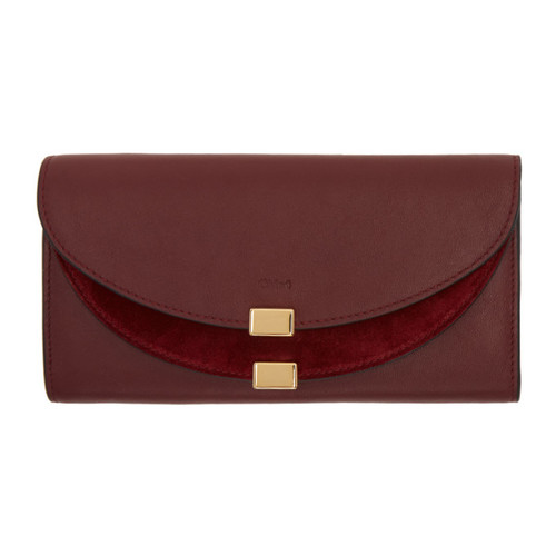 CHLOÉ Purple Long Georgia Flap Wallet