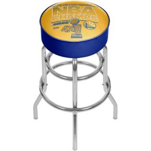 TRADEMARK GLOBAL GOLDEN STATE WARRIORS CHROME PADDED SWIVEL BAR STOOL
