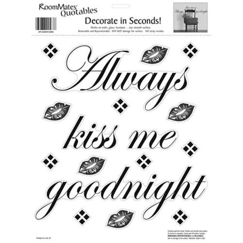 RoomMates RMK0032SS Always Kiss Me Goodnight Peel & Stick Single Sheet