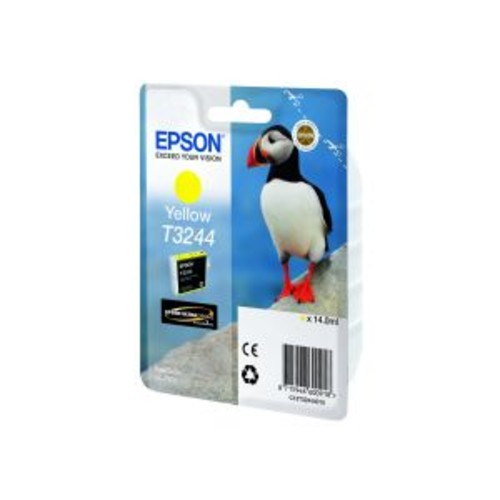 Epson T3244 - Yellow - original - ink cartridge - for SureColor P400, SC-P400 (T324420)
