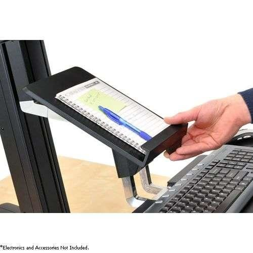 Ergotron WorkFit-S Tablet/Document Holder - Docking Location, Plastic Surface, Handle - 97-558-200