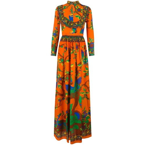 GUCCI Floral Print Gown