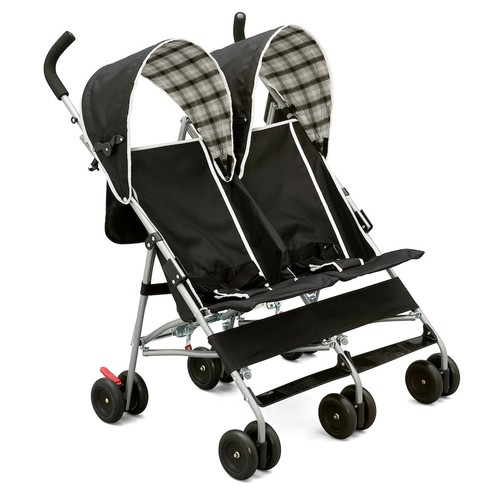 Delta Children DX Side by Side Plaid Double Stroller