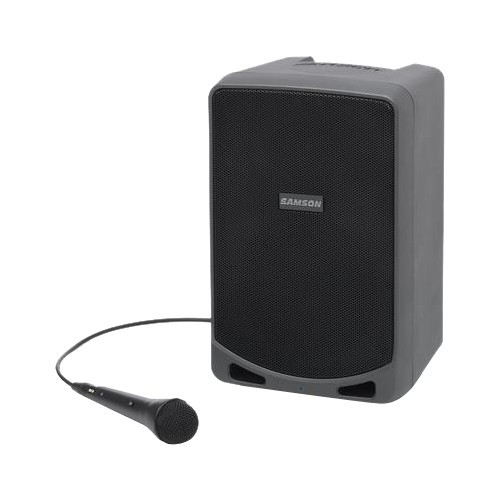 Samson - Expedition 100W Dual Speaker Bluetooth Battery Powered PA System - Black