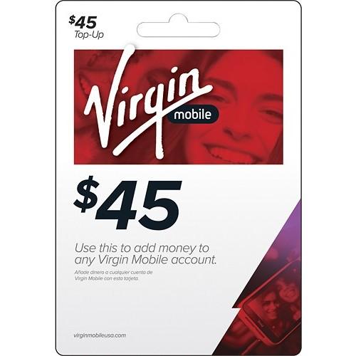 Virgin Mobile - $45 Top-Up Card - Multi