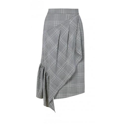 TIBI Jasper Asymmetrical Ruffle Skirt