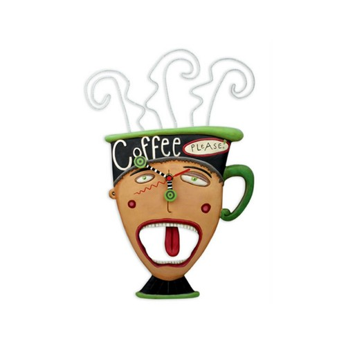 Allen Designs Studio Coffee Please Clock