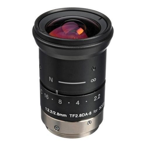 Fujinon TF2.8DA-8 2.8mm F/2.2 Fixed Focus Lens for Machine Vision and Robotics, C-Mount, Manual Iris