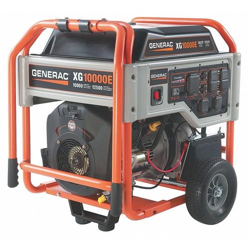 Electric Gasoline Portable Generator, 10,000 Rated Watts, 12,500 Surge Watts, 120/240VAC