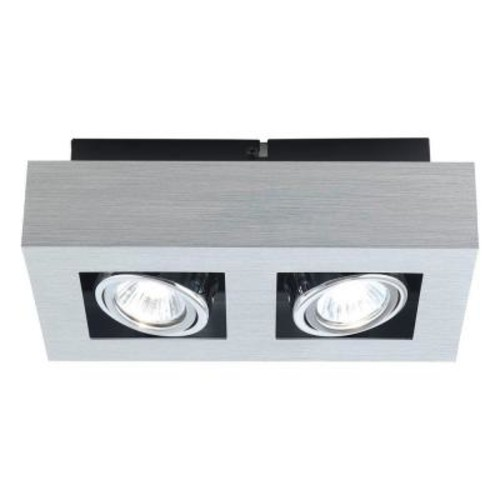 Loke 2-Light Brushed Aluminum Track Lighting