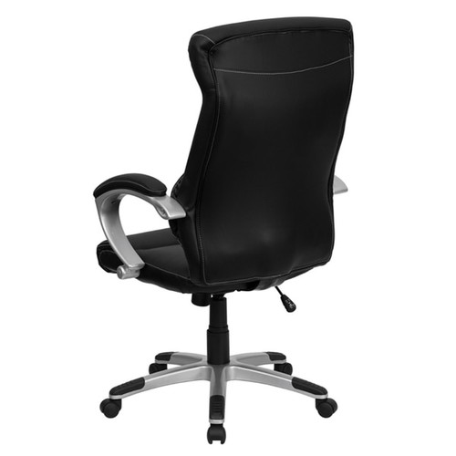 Nidra High Back Black Leather Executive Swivel Adjustable Office Chair