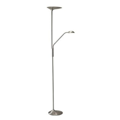 Adesso LED Torchiere Lamp Brushed Steel (5146-22)