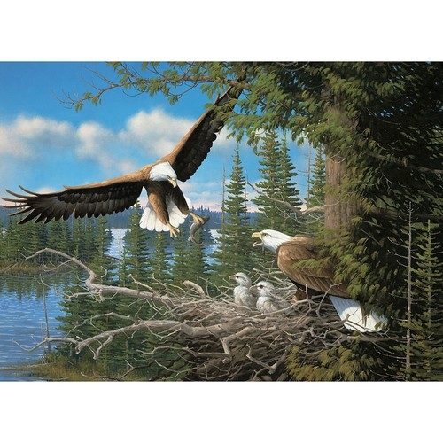 Cobble Hill: Nesting Eagles 1000-Piece Jigsaw Puzzle